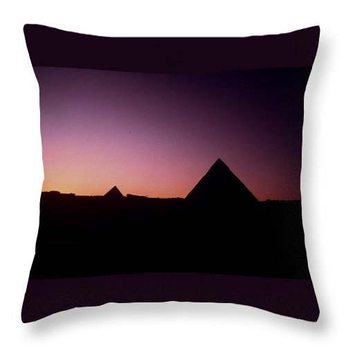 Egypt Throw Pillow featuring the photograph Egyptian Sunset by Gary Wonning