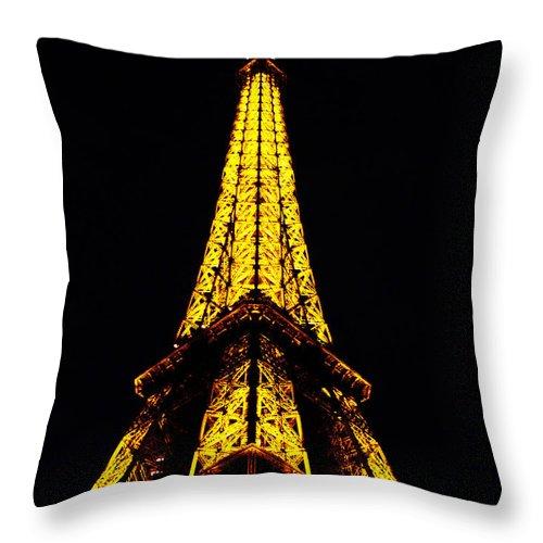 Eiffel Tower Throw Pillow featuring the photograph Eiffel Tower by Jeff Barrett