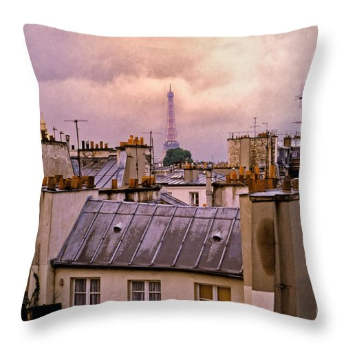 Eiffel Throw Pillow featuring the photograph Eiffel Tower by Madeline Ellis