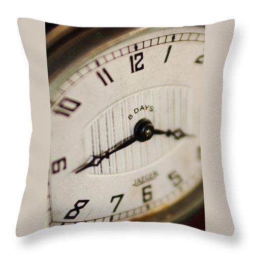 Clock Throw Pillow featuring the photograph Eight Days A Week Clock by Jill Reger
