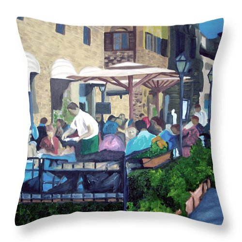 Florence Italy Throw Pillow featuring the painting Eight Dollar Coke by Michael Lee