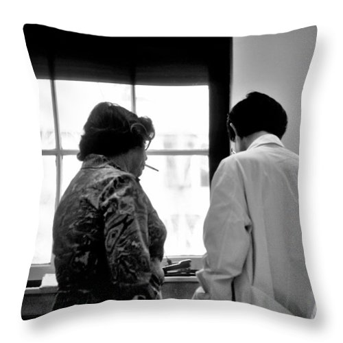 Cardiologist Throw Pillow featuring the photograph Ekg Lab 1976 University Of Chicago by Joseph Duba