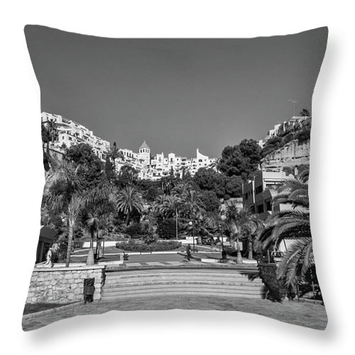 Mediterranean Throw Pillow featuring the photograph El Capistrano, Nerja by John Edwards