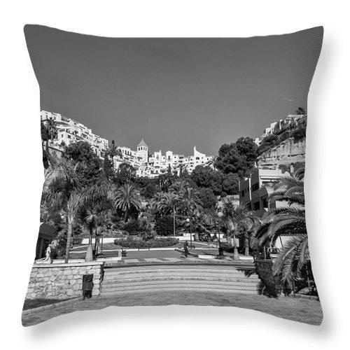 Mediterranean Throw Pillow featuring the photograph El Capistrano, Nerja by John Edwards
