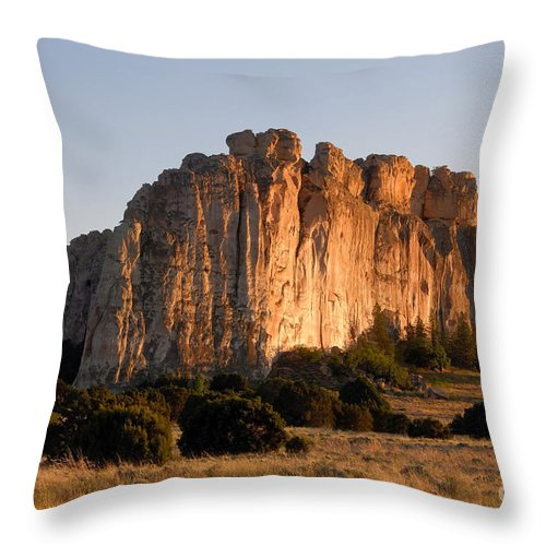 El Morro National Monument New Mexico Throw Pillow featuring the photograph El Morro by David Lee Thompson