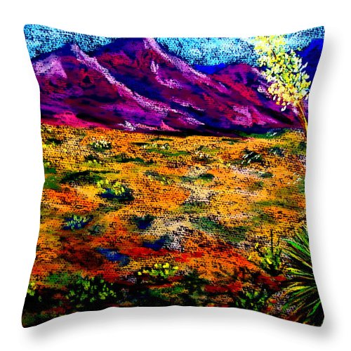 Yucca Throw Pillow featuring the painting El Paso by Melinda Etzold