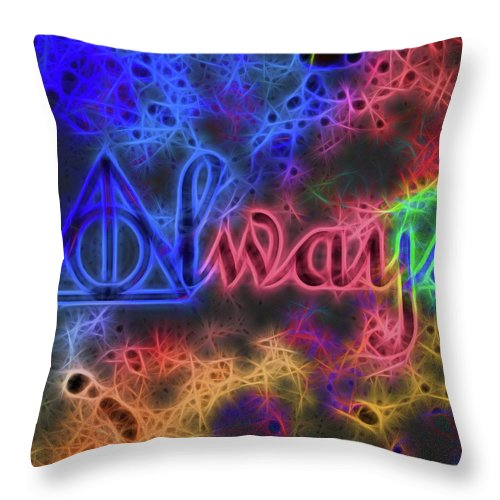 Electric Always Throw Pillow featuring the mixed media Electric Always by Dan Sproul