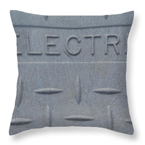 Public Utilities Throw Pillow featuring the photograph Electric Box by Gigi Croom