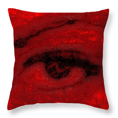 Square Throw Pillow featuring the digital art Electric Eye by Eikoni Images