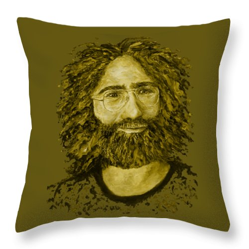 Jerry Throw Pillow featuring the digital art Electric Jerry Lemon - T-shirts-etc by Julie Turner