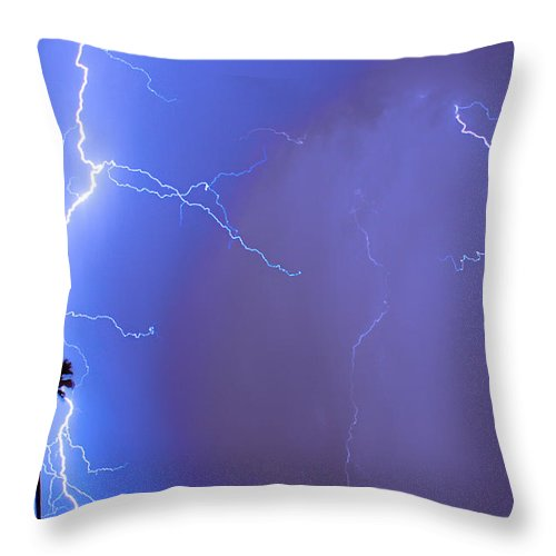 Lightning Throw Pillow featuring the photograph Electric Night by James BO Insogna