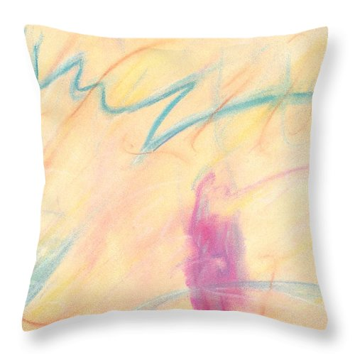 Abstract Throw Pillow featuring the painting Electric by Wayne Monninger