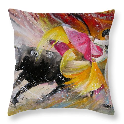Animals Throw Pillow featuring the painting Elegance by Miki De Goodaboom