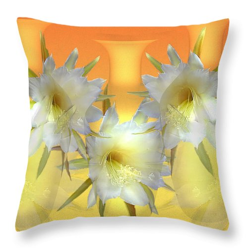 Cacti Throw Pillow featuring the photograph Elegant Beauty by Joyce Dickens
