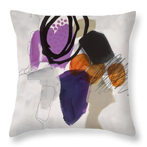 Painting Throw Pillow featuring the painting Element # 3 by Jane Davies