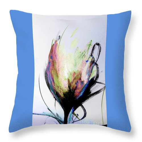 Elemental Throw Pillow featuring the digital art Elemental In Color Abstract Painting by Lisa Kaiser
