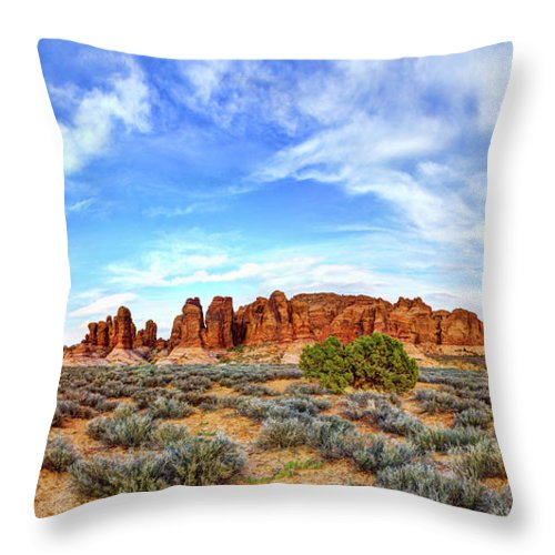 Elephant Butte Throw Pillow featuring the photograph Elephant Butte by Chad Dutson