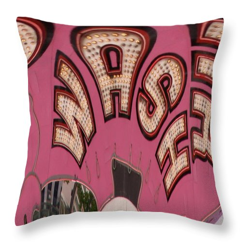 Seattle Throw Pillow featuring the digital art Elephant Car Wash by Tim Allen