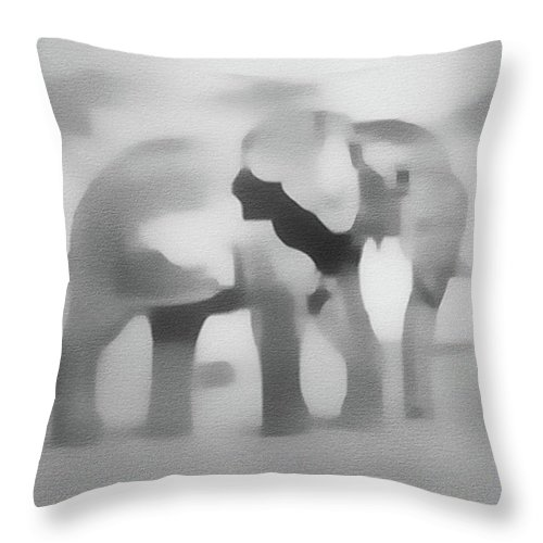 Elephant Throw Pillow featuring the painting Elephant by Springtime Seventy Eight
