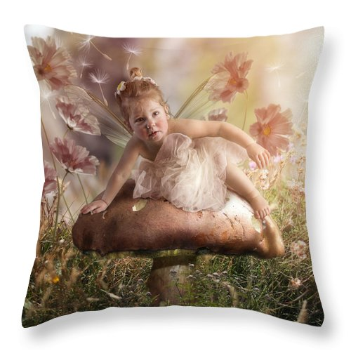 Elf Throw Pillow featuring the photograph Elf Baby II by Cindy Grundsten