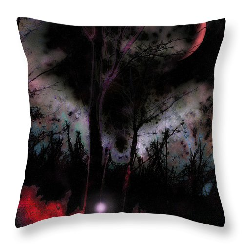 Elfenfeuer Throw Pillow featuring the digital art Elfenfeuer by Mimulux patricia No