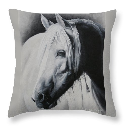 Portrait Throw Pillow featuring the painting Elsa-free Spirit by Pauline Sharp