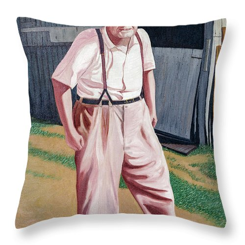 2d Throw Pillow featuring the painting Elwood by Brian Wallace
