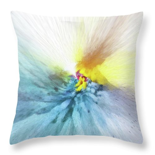 Flowers Throw Pillow featuring the painting Emanant Spirit 1 by Jamie Holbrook