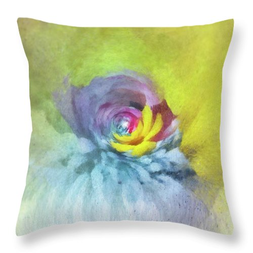 Flowers Throw Pillow featuring the painting Emanant Spirit 2 by Jamie Holbrook