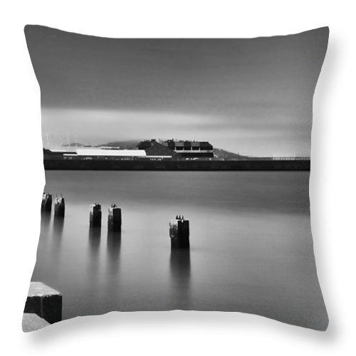 Digital Photography Throw Pillow featuring the photograph Embarcadero by Chuck Lapinsky