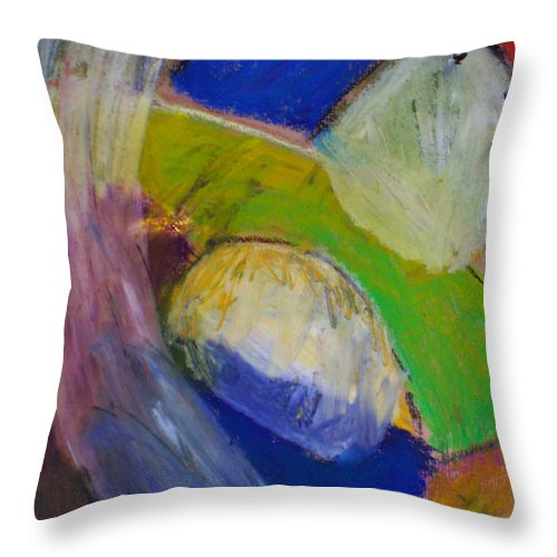 Abstract Throw Pillow featuring the painting Embrace 1 by Angelina Marino
