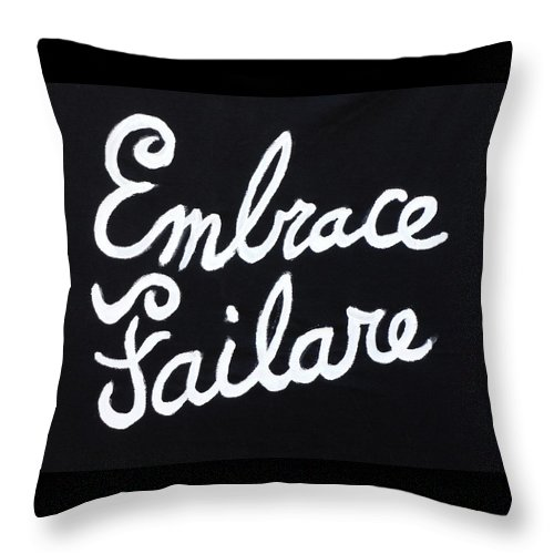 Failure Throw Pillow featuring the painting Embrace Failare by John Kilduff