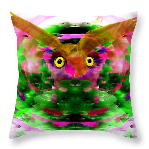 Embrace Throw Pillow featuring the digital art Embrace The Wind by Seth Weaver