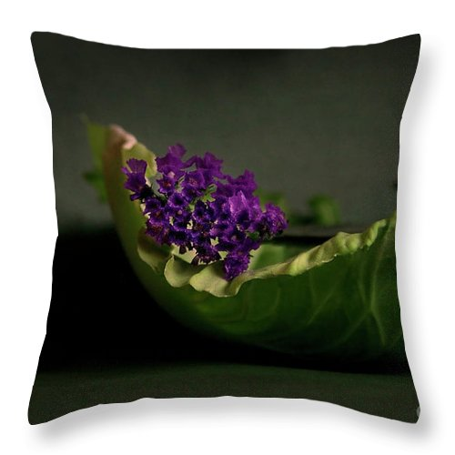 Flower Throw Pillow featuring the photograph Embraced by Eena Bo