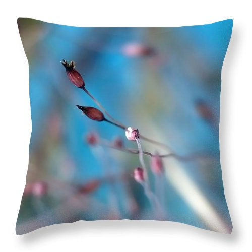 Abstract Throw Pillow featuring the photograph Emerge by Lauren Radke