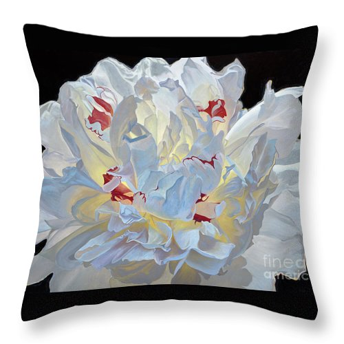 Bloom Throw Pillow featuring the painting Emerging by Kirsten Throneberry