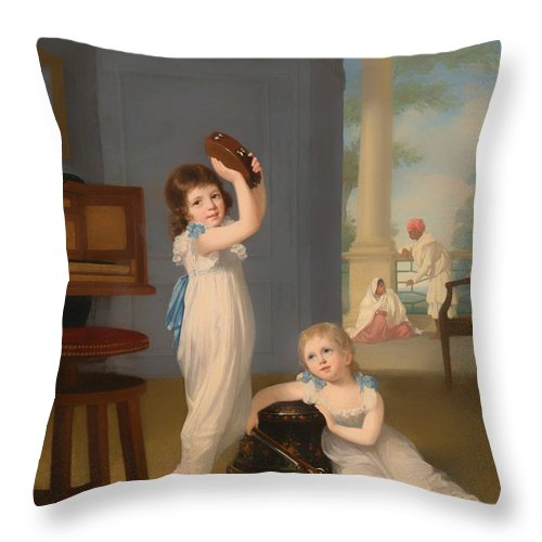 Painting Throw Pillow featuring the painting Emily And George Mason by Mountain Dreams
