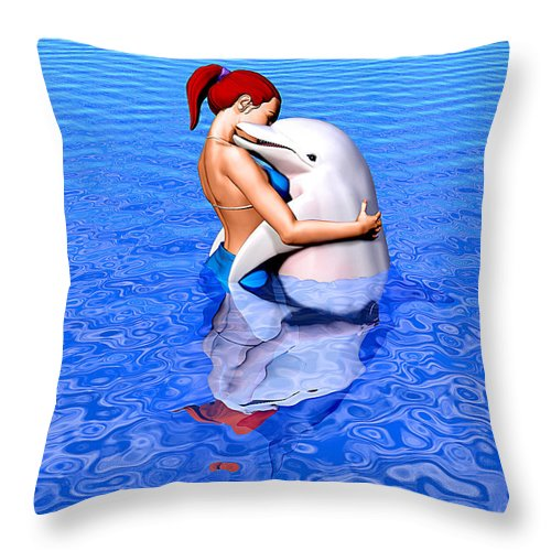 Emissaries Throw Pillow featuring the painting Emissaries by Robby Donaghey