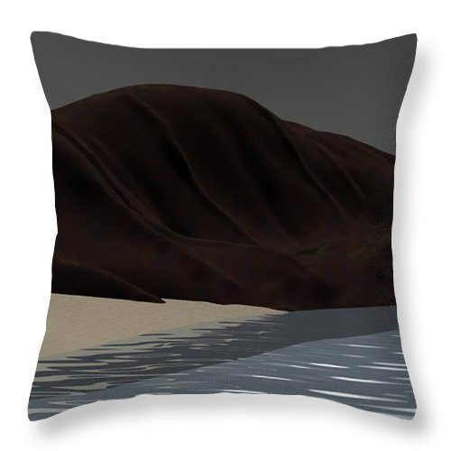 Abstract Throw Pillow featuring the digital art Emotion by David Lane