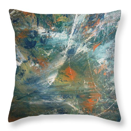 Non Duality Throw Pillow featuring the painting Emotional Deluge by Paula Andrea Pyle