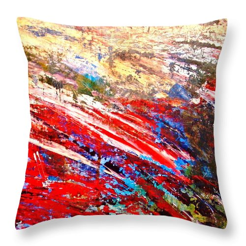 Expressionism Throw Pillow featuring the painting Emotional Explosion by Natalie Holland