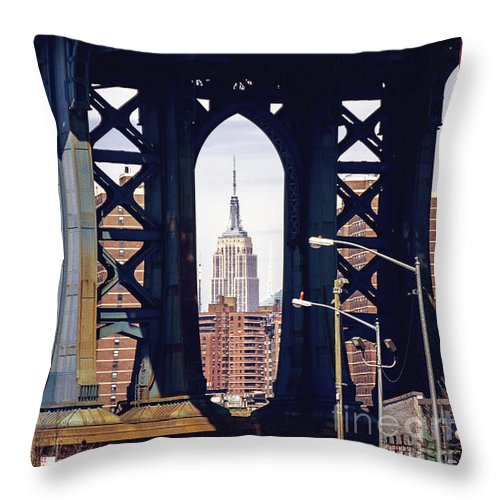 Bridge Throw Pillow featuring the photograph Empire Framed by Joan McCool