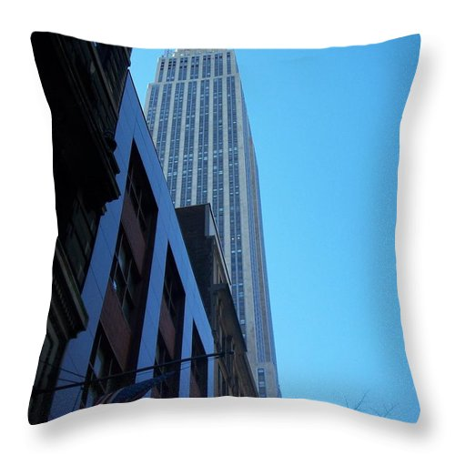 Emoire State Building Throw Pillow featuring the photograph Empire State 1 by Anita Burgermeister