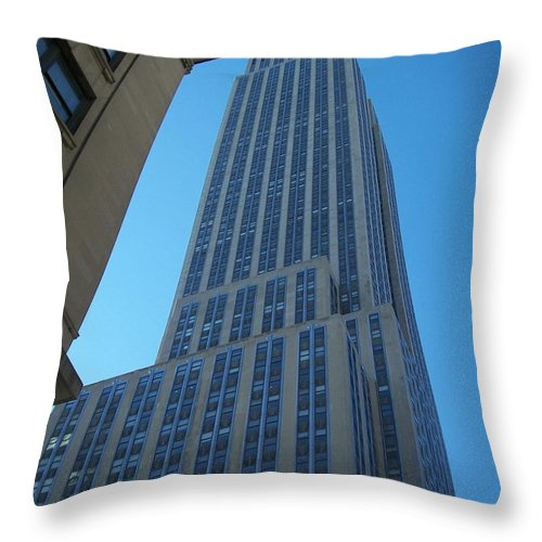 Emoire State Building Throw Pillow featuring the photograph Empire State 2 by Anita Burgermeister