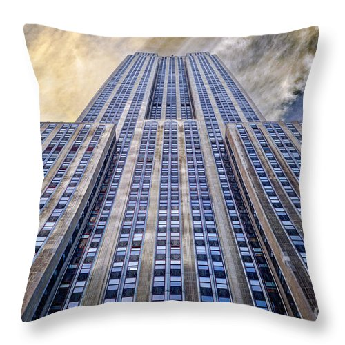 Empire State Building Throw Pillow featuring the photograph Empire State Building by John Farnan