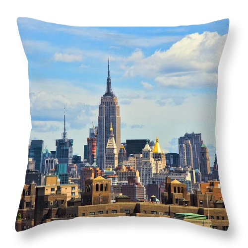 Nyc Throw Pillow featuring the photograph Empire State Building by June Marie Sobrito