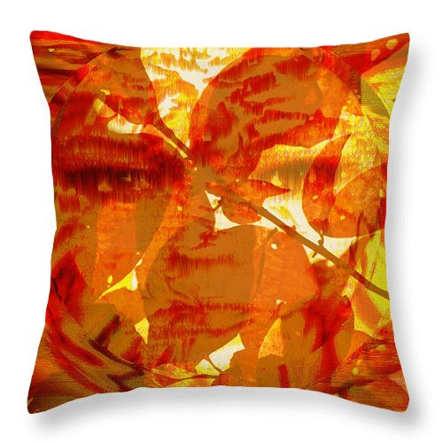 Oriental Throw Pillow featuring the digital art Empress of the Sun by Seth Weaver