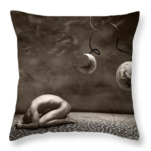 Surreal Throw Pillow featuring the photograph Emptiness by Jacky Gerritsen