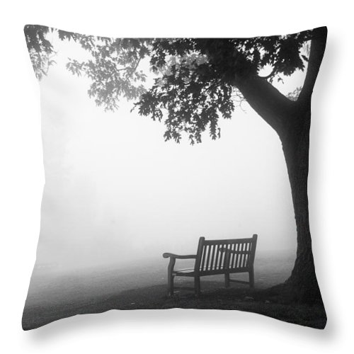 National Parks Throw Pillow featuring the photograph Empty Bench by Monte Stevens