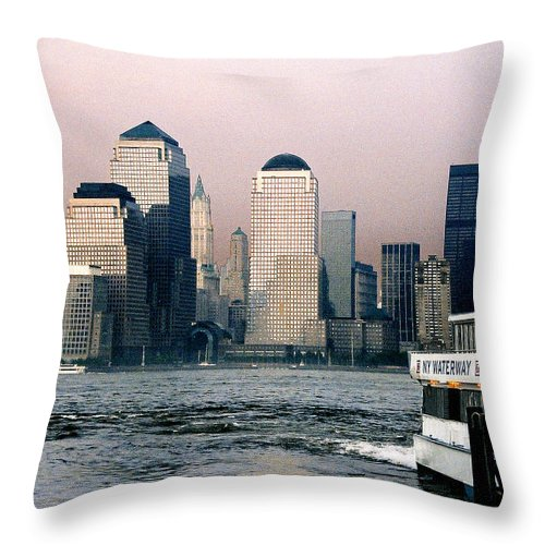 New York Throw Pillow featuring the photograph Empty Sky by Steve Karol
